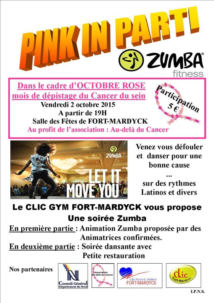 OR 2015 Affiche Pink in party dunkerque audeladucancer